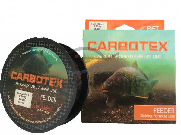 FIR CARBOTEX FEEDER DM BLACK 0.24mm 8.50kg 250m