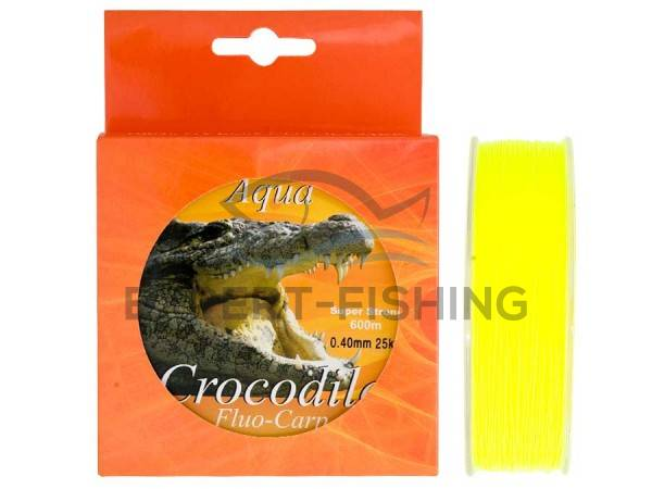 FIR AQUA CROCODILE CARP FLUO GALBEN 0.25mm 600m