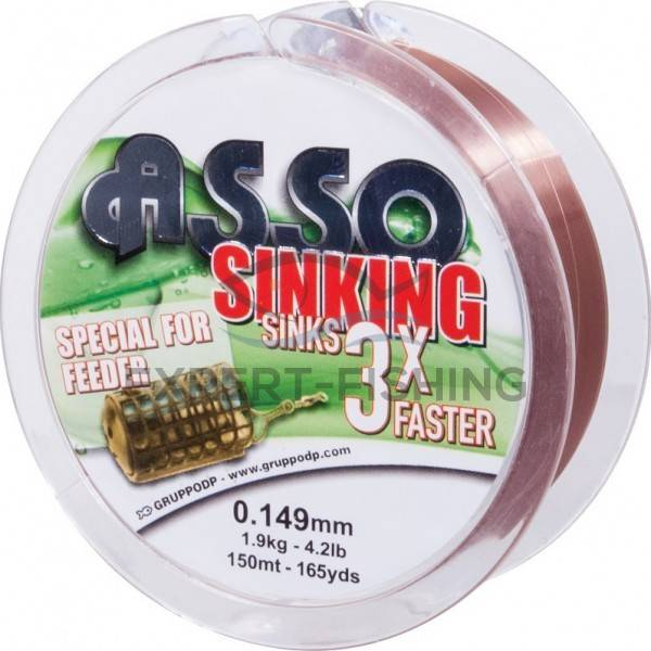 FIR ASSO SINKING 3X FEEDER BROWN 0.134mm 150m 1.5kg