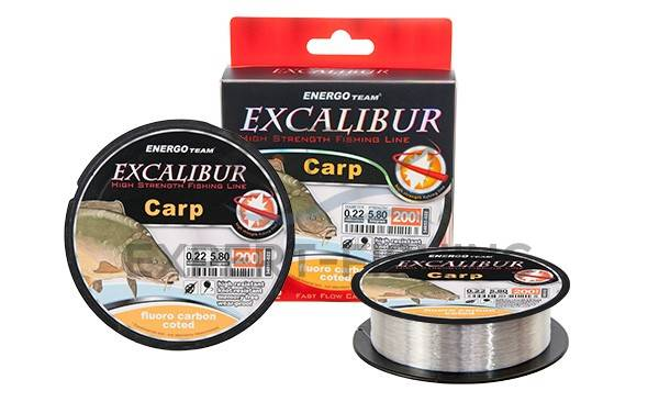 FIR EXCALIBUR CARP FLUORO CARBON 200m 0.20mm