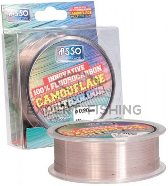 FIR ASSO FLUOROCARBON MULTICOLOR 0.22mm 150m