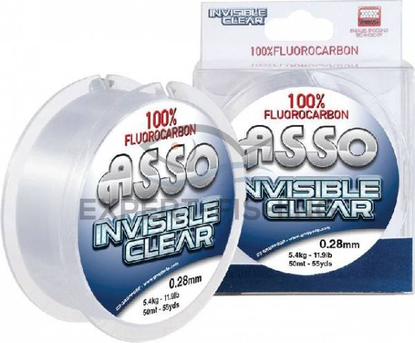 FIR ASSO FLUOROCARBON INVISIBLE CLEAR 0.35mm 50m